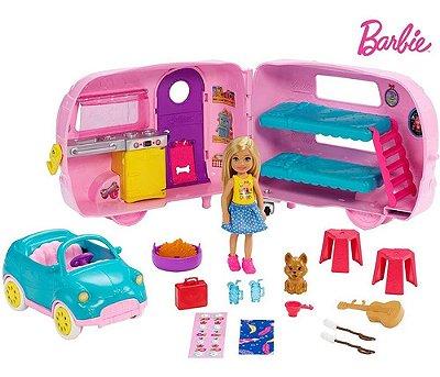 Boneca Barbie Chelsea Trailer De Acampamento 44 Cm