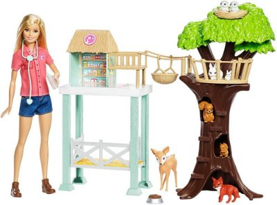 Boneca Barbie Cuidadora Dos Bichinhos Profissões Loira C Pet