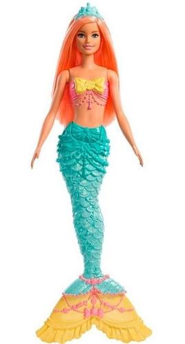 Boneca Barbie Dreamtopia Calda De Sereia Laranja Com Brilhos