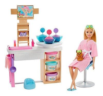 Boneca Barbie E Cachorrinho Dia No Spa De Luxo Com Massinha