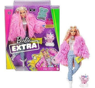 Boneca Barbie Extra Doll - Casaco Rosa - Lancamento 2021