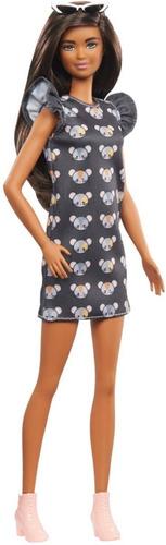 Boneca Barbie Fashionistas 140 Cabelo Longo Morena Negra