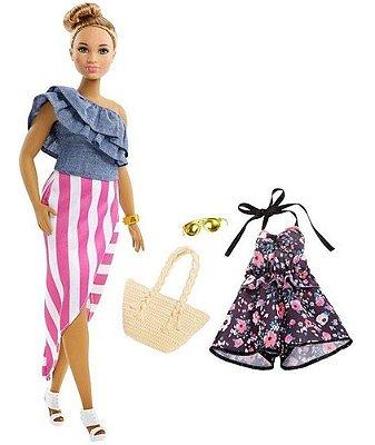 Boneca Barbie Fashionistas Morena C 2 Roupas E Acessórios