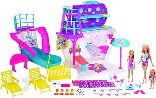 Boneca Barbie Playset Viaje Navio Cruzeiro Da Barbie Magico