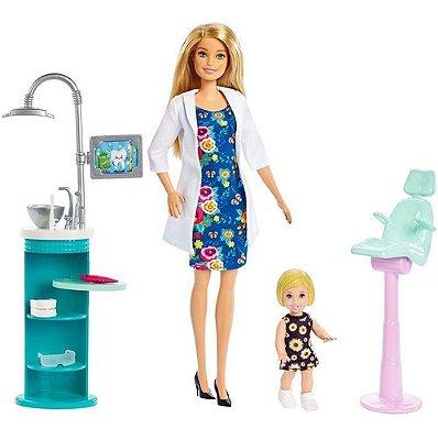 Boneca Barbie Profissões Dentista Loira C/ Precisa Acessório