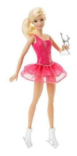 Boneca Barbie Profissões Patinadora No Gelo Com Troféu