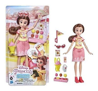 Boneca Bela Princesa Disney Comfy Squad + Acessórios