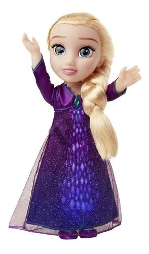 Boneca Com Luzes E Sons - 37 Cm - Disney - Frozen 2 - Elsa