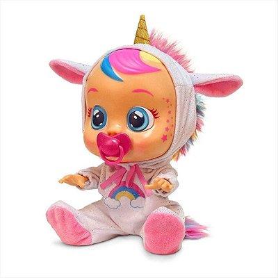 Boneca Cry Babies Dreamy Chora Lágrimas De Verdade Unicornio