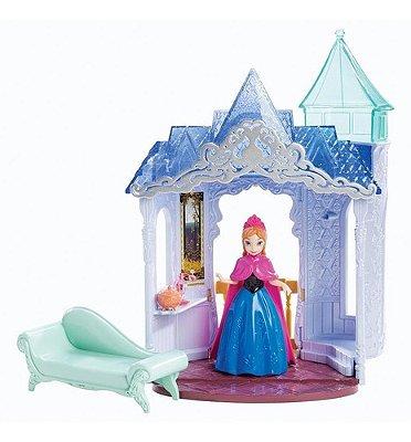 Boneca Disney Frozen Mini Castelo Anna - Com Vestido Magico