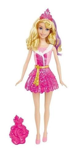Boneca Disney Princesa Aurora Vestido Magico Troca De Cor