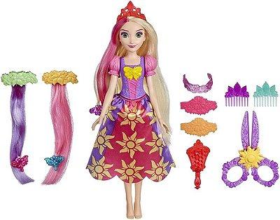 Boneca Disney Princesas Rapunzel Cabelos Divertidos 35 Cm