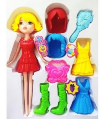 Boneca Fashion Style Troca Roupa Com 8 Acessórios Pica Pau