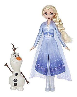 Boneca Frozen 2 Disney Elsa + Olaf 2 Amigos 30 Cm + Brinde