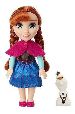 Boneca Frozen Anna Com Mini Olaf 30 Cm Mimo - + Brinde