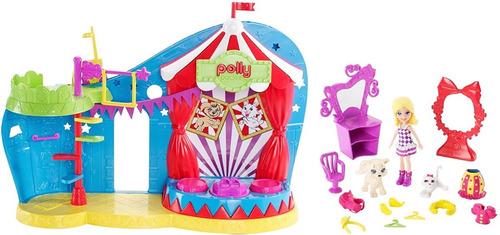 Boneca Polly Pocket Circo Magico Dos Bichinhos Com Cenarios