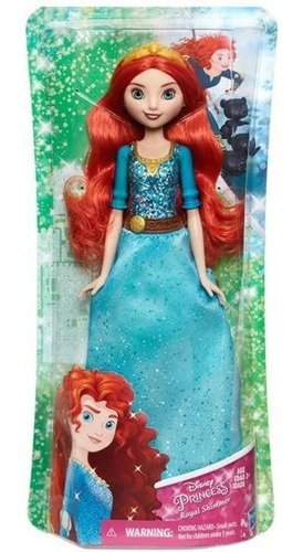 Boneca Princesa Merida Disney Royal Shimmer Brilhantes