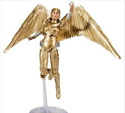 Boneco Articulado Mulher Maravilha 1984 Golden Armor Dc