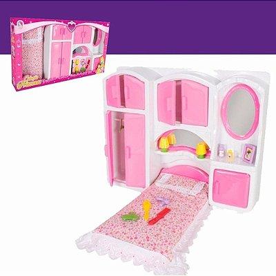 Coleção Princesas Quarto Com Cama E Acessórios Sonho Magico
