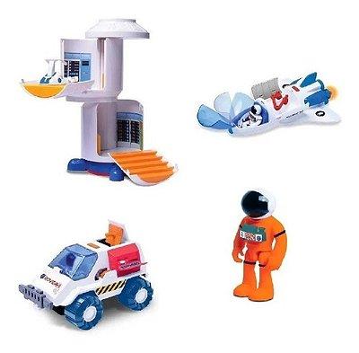Kit Completo Espacial Astronautas Com Figuras E Veículos
