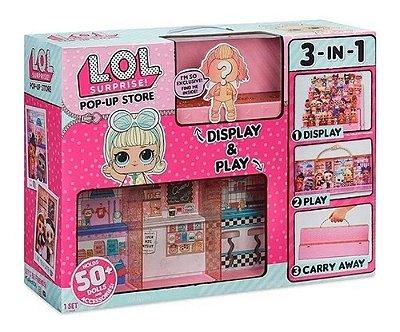 Lol Pop Up Store 3 Em 1 - Lojinha Cabem 50 Bonecas Original