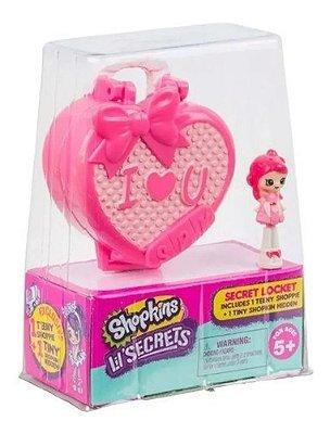 Micro Shopkins Secrets I Love You Mini Boneca Com Pingente