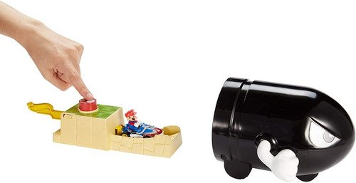 Pista Hot Wheels Mario Bros Kart Lançador Bullet Bill - Bala