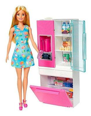 Playset Barbie Estate Móveis E Acessórios Na Geladeira