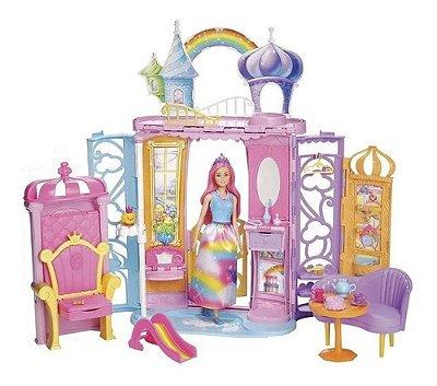 Playset E Boneca Castelo Da Barbie Dreamtopia Arco Íris