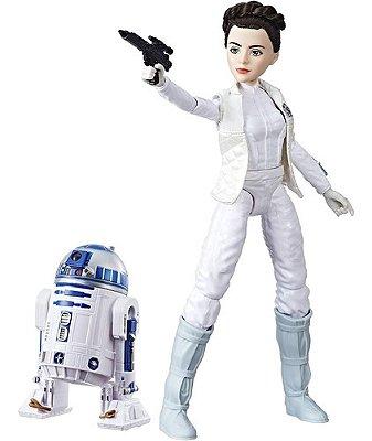 Princesa Leia E R2d2 Star Wars Forças Do Destino Edição Luxo