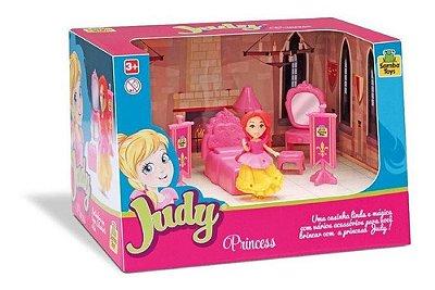 Brinquedo Moveis Da Judy Home Quarto Princesa C Boneca Rosa