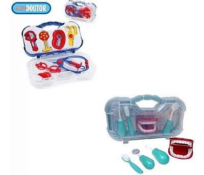 Conjunto Maleta Medica E Dentista Infantil Mini Doutor Pakst