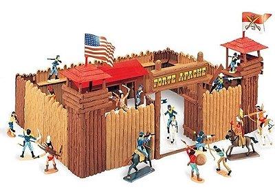 Forte Apache Batalha De Luxo Gulliver Figuras Pintadas À Mão