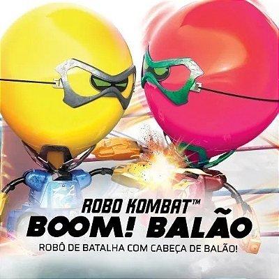 Kit Com 2 Robô Kombat Cabeça Balão - Com Controle Remoto