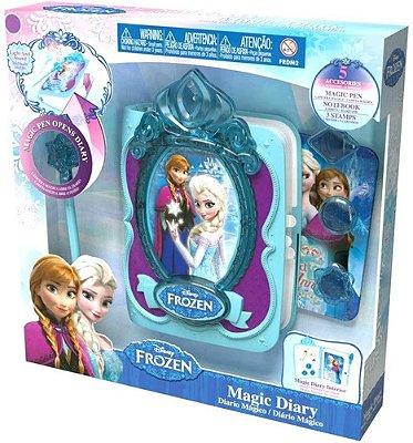 Brinquedo Diário Mágico Disney Frozen C Carimbo E Varinha