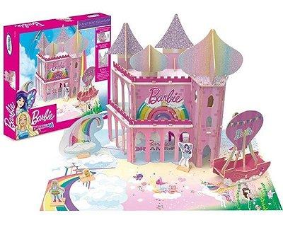 Quebra Cabeça De Madeira 3d Playset Reino Dreamtopia Barbie