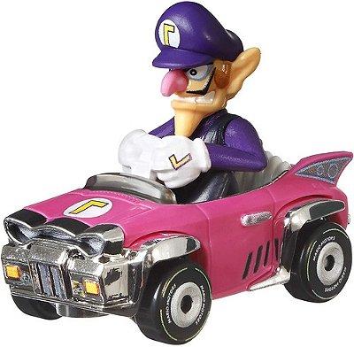 Hot Wheels - Carrinho Waluigi Badwagon - Mario Kart Badwagon