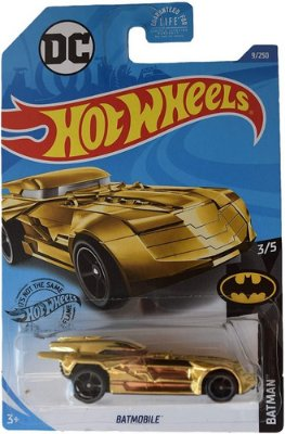 Hot Wheels Carrinho Batmobile - Edição Batman Dourado Ouro