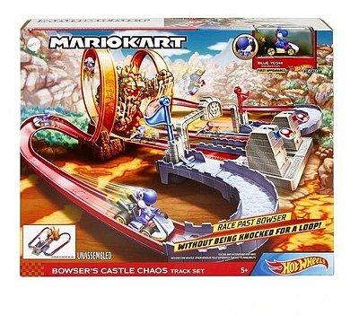 Hot Wheels Mario Kart Pista Castelo Do Caos Edição Especial