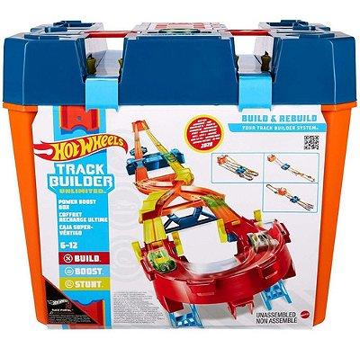 Hot Wheels Pista Track Builder Mega Caixa Boost Box Edição E