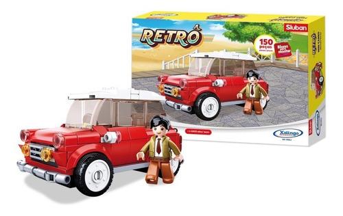 Bloco De Montar Retrô Mini Carro 150 Peças - Vermelho
