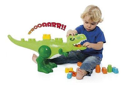 Blocos De Montar Brinquedo Educativo Dinossauro Jurassic