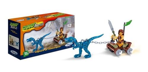 Blocos De Montar Xalingo - Captura Do Velociraptor -52 Peças