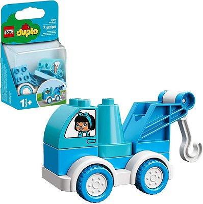 Lego Duplo 10918 Caminhão De Reboque 7 Peças Azul E Branco