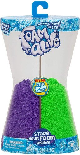 Massinha De Areia De Modelar Foam Alive Duas Cores 100gramas