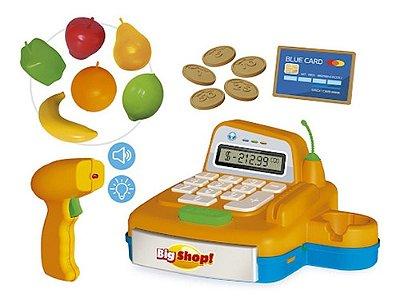 Caixa Registradora Big Shop Com Dinheirinho E Acessórios - Amarelo