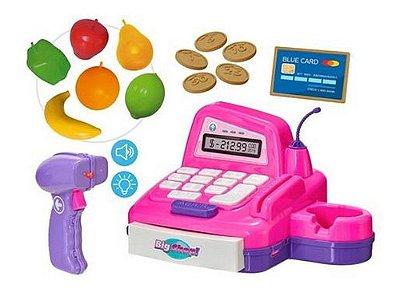 Caixa Registradora Big Shop Com Dinheirinho E Acessórios - Rosa