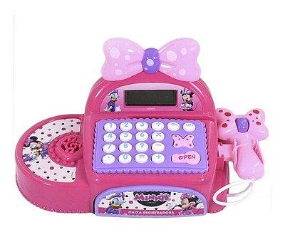 Caixa Registradora Disney Minnie Com Moedas E Notas Rosa