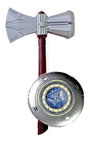 Escudo E Martelo Trovão Coleção Heróis Gladiador Brinquedo