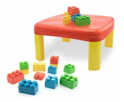 Mesa Infantil Kids Pedagógica C\12 Blocos Grandes Simo Toys